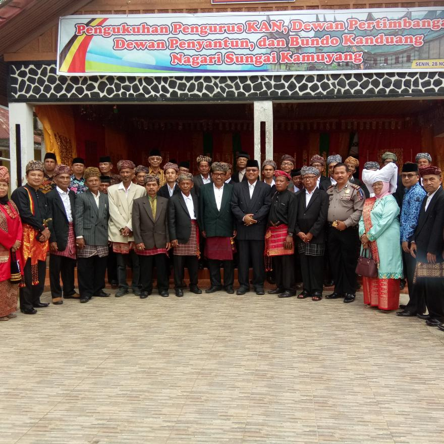 Pelantikan Pengurus Kerapatan Adat Nagari dan Bundo Kandung Nagari Sungai Kamuyang Periode 2019-2024