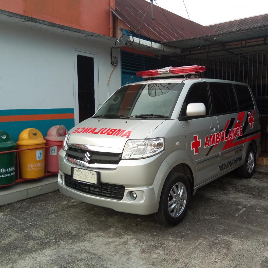 Tanggap Bantu Warga Pemerintah Nagari Sungai Kamuyang sediakan ambulance